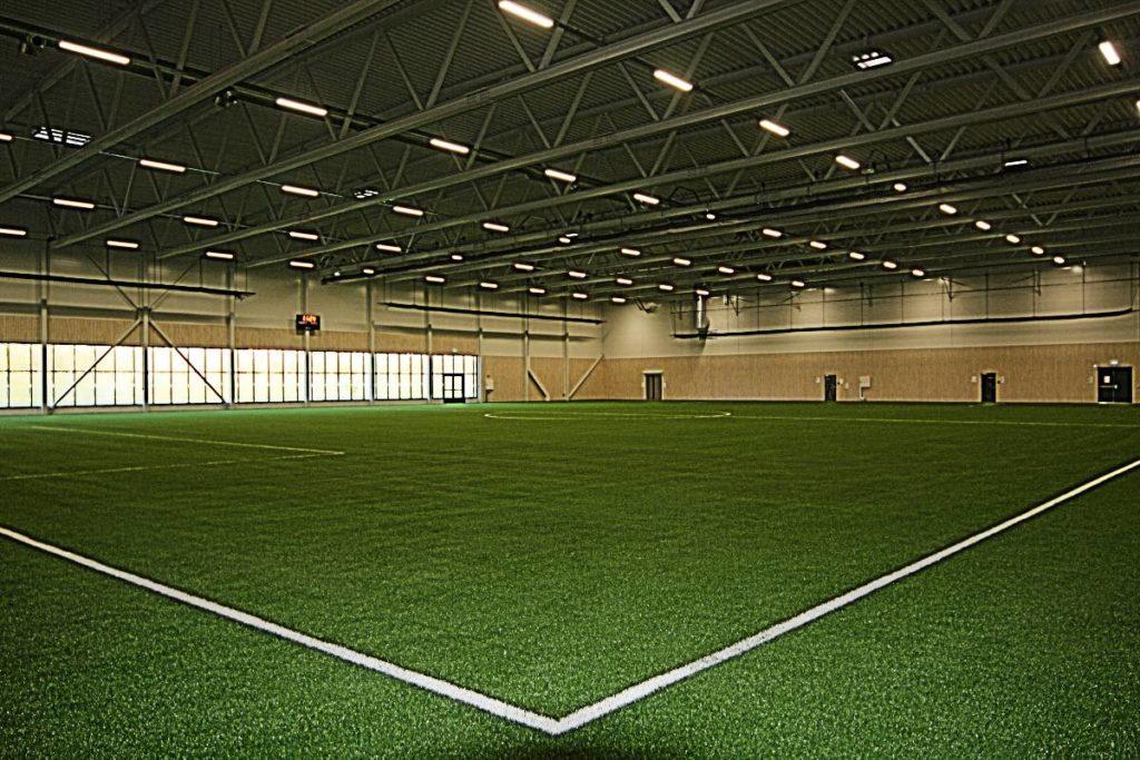 Åssiden Fotballhall idrettsbelysning idrettshall belysning arenabelysning