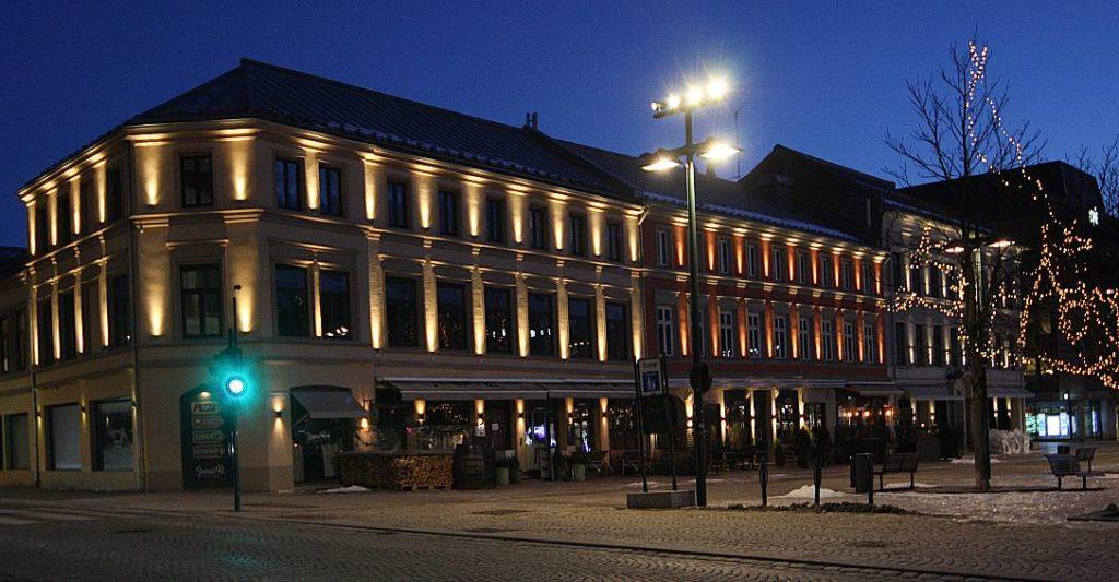 Luxia Fasadebelysning Bragernes Torg